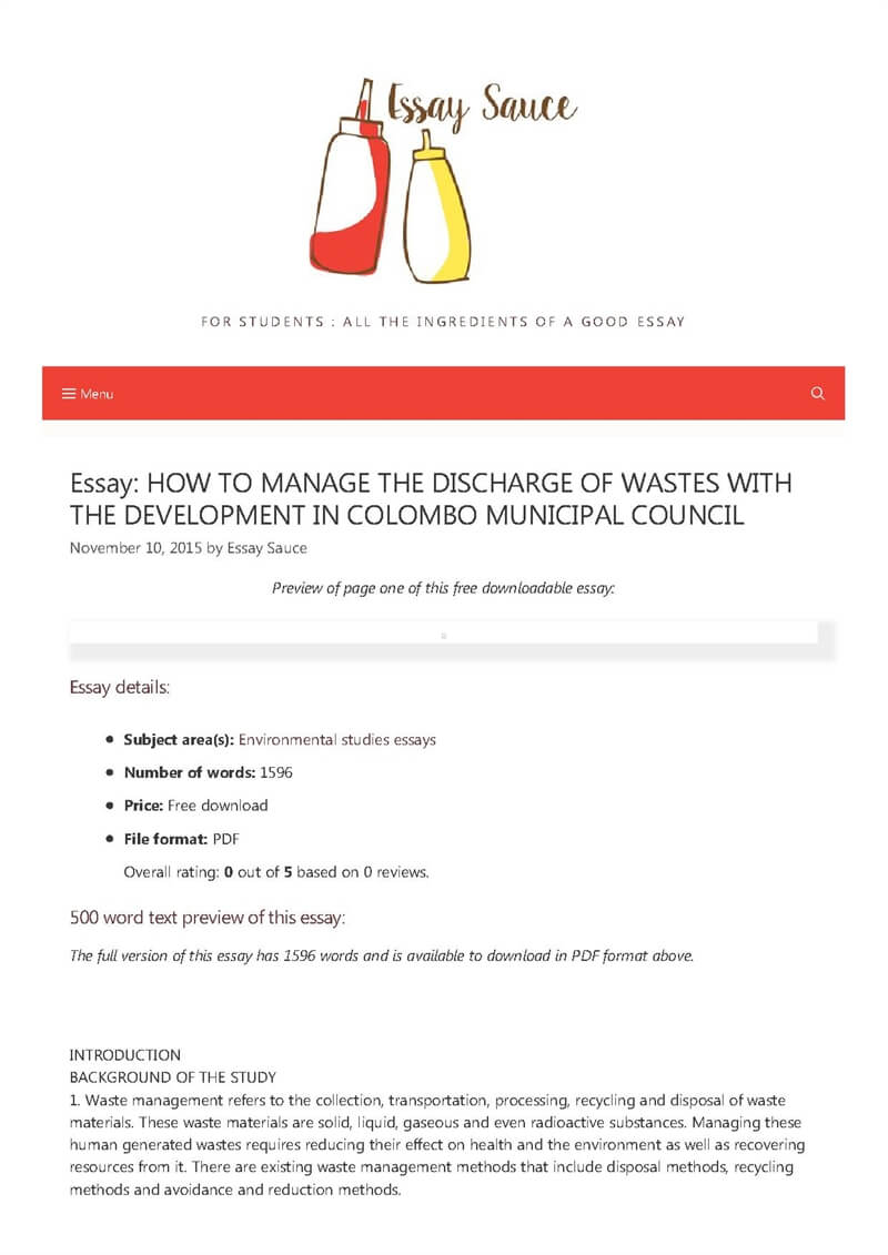 HOW TO MANAGE THE DISCHARGE OF WASTES WITH THE DEVELOPMENT