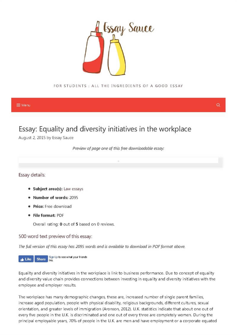 equality and diversity initiatives in the workplace   law essays  essay details